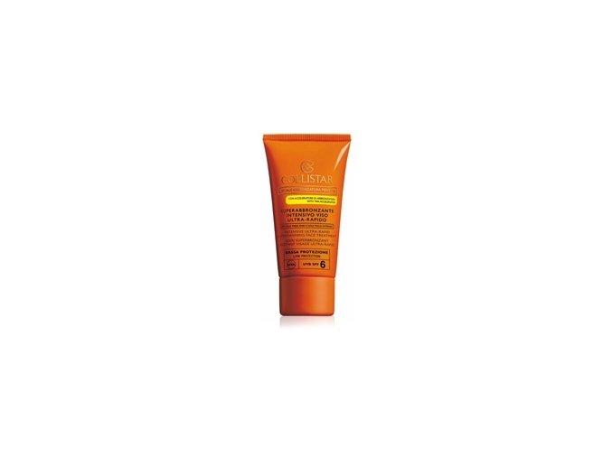 Collistar Intensive Ultra Rapid Supertanning Face Tratment SPF 6 50 ml  Opalovací krém na obličej s ultra rychlým účinkem