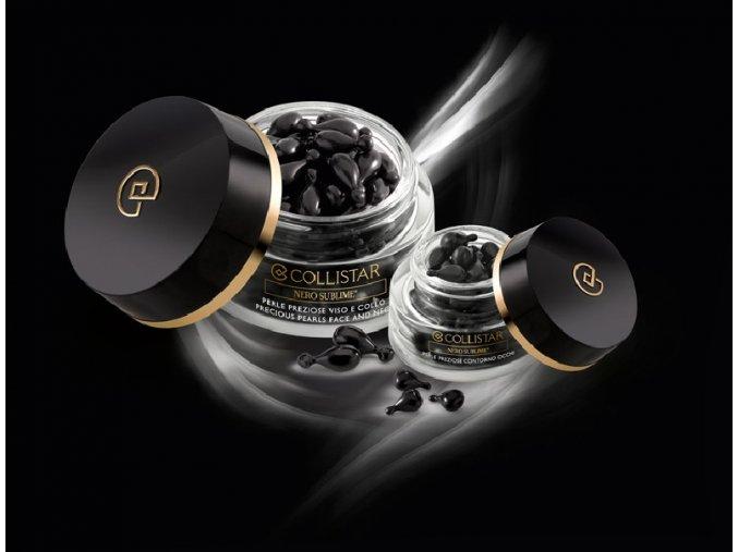 Collistar Nero Sublime Precious Pearls Face And Neck 60 ks  Perly na obličej a krk s regeneračním, rozjasňujícím a detoxikačním účinkem