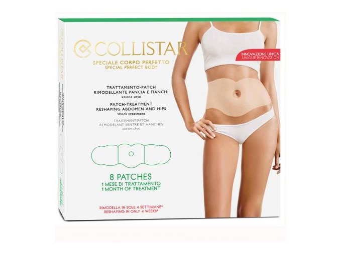 Collistar Patch Treatment Reshaping Abdomen And Hips 8ks  REMODELAČNÍ NÁPLASTI NA BŘÍŠKO A BOKY