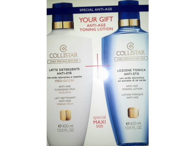 Collistar Set Anti Age Cleansing Milk 400 ml + Anti Age Toning Lotion 200ml  400 ml + 200 ml