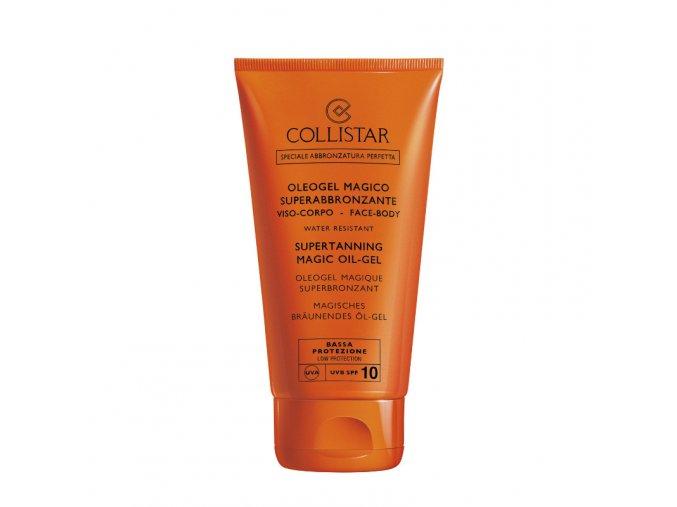 Collistar Supertanning Magic Oil Gel SPF 10 150 ml  Olejový gel pro perfektní opálení těla a obličeje, voděodolný