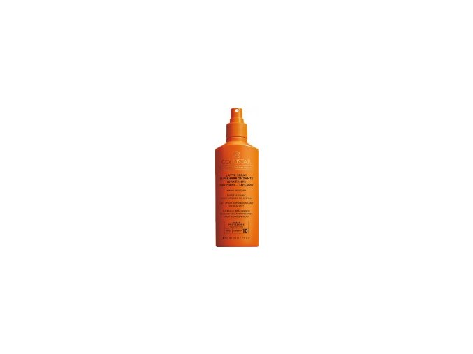 Collistar Supertanning Moisturizing Milk Spray face body SPF 10 200 ml  Opalovací mléko ve spreji na tělo i obličej, voděodolný