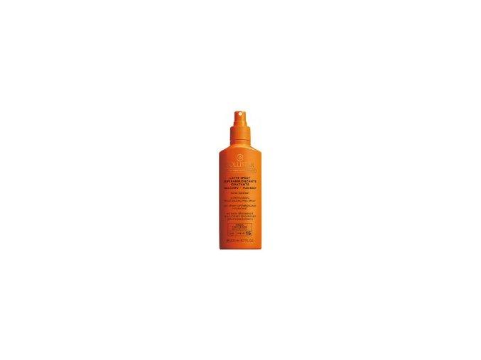 Collistar Supertannintg Moisturizing Milk Spray SPF 15 200 ml  Opalovací mléko ve spreji na tělo i obličej, voděodolný