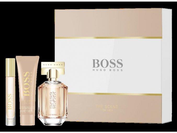 Hugo Boss Scent Woman Dárková sada parfémovaná voda dámská EDP  50 ml + 7,4 ml + Tělové mléko 50 ml dárková sada