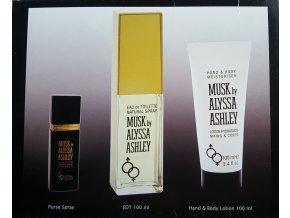 Alyssa Ashley Musk toaletní voda unisex EDT 100 ml + EDT 8 ml purse spray + krém na ruce a tělo  100 ml