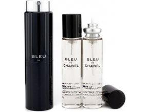 Chanel Bleu De Chanel parfémovaná voda pánská EDP  3x20 ml plnitelný twist set + vzorek CHANEL k objednávce zdarma