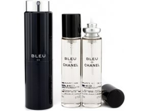 Chanel Bleu De Chanel toaletní voda pánská twist and spray 3x20 ml  3x20 ml plnitelný komplet twist set + vzorek CHANEL k objednávce zdarma