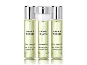 Chanel Chance Eau Fraiche toaletní voda dámská EDT  3 x 20 ml náplň