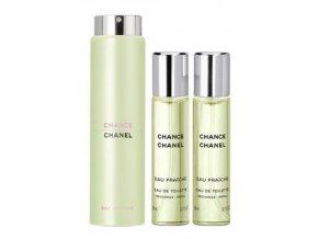 Chanel Chance Eau Fraiche toaletní voda dámská EDT  3 x 20 ml plnitelný twist set