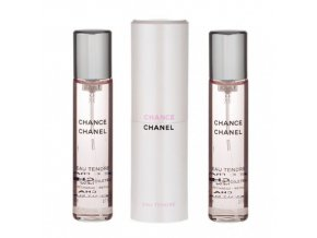 Chanel Chance Eau Tendre toaletní voda dámská EDT  3 x 20 ml plnitelný komplet twist set