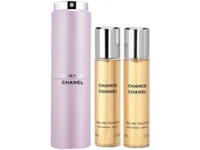 Chanel Chance toaletní voda dámská EDT 60 ml  3 x 20 ml plnitelný komplet twist set