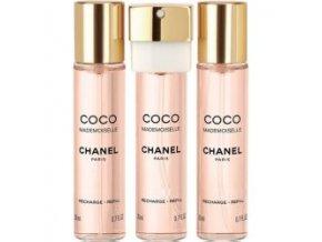 Chanel Coco Mademoiselle parfémovaná voda dámská EDP  3 x 20 ml náplně + vzorek Chanel k objednávce zdarma