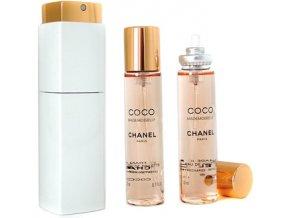 Chanel Coco Mademoiselle parfémovaná voda dámská EDP  3 x 20 ml plnitelný twist set + vzorek CHANEL k objednávce zdarma
