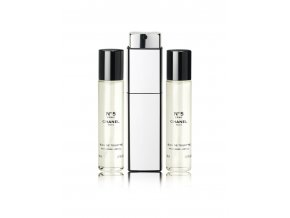 Chanel No.5 L´Eau toaletní voda dámská EDT 60 ml  3 x 20 ml plnitelný komplet