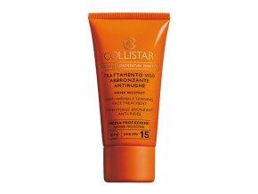 Collistar Anti Wrinkle Tanning Face Treatment SPF 15 50 ml  Opalovací krém na obličej proti vráskám, voděodolný