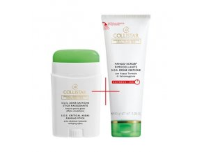 Collistar S.O.S. Critical Areas Firming Stick pro kritické zóny paže břicho zadek 75 ml + Reshaping Mud-Scrub S.O.S. Critical Areas bahenní peeling na SOS problematické partie 150 ml  COLLISTAR STICK PRO KRITICKÉ ZÓNY - PAŽE, BŘICHO, ZADEK + MODELAČNÍ BAHENNÍ PEELING