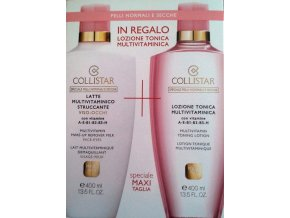 Collistar Set Multivitamin Make-up Remover Milk 400 ml + Multivitamin Toning Lotion 200 ml  400 ml + 200 ml