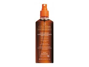 Collistar Supertanning Dry Oil SPF 15 200 ml (Olio Secco Superabbronzante Idratante)  200 ml