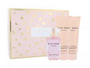 Elie Saab Le Parfum Rose Couture Dárková sada toaletní voda dámská 50 ml + 2x tělové mléko 75 ml  50 ml + Tělové mléko 2 x 75 ml