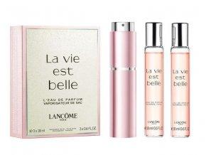 Lancome La Vie Est Belle parfémovaná voda dámská EDP  3x18 ml plnitelný komplet 54 ml