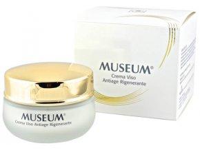 Regenerační krém proti vráskám na obličej z extra panenského olivového oleje Museum  50 ml