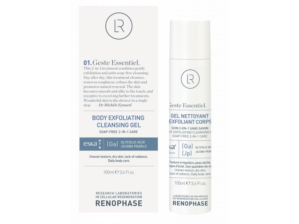 body exfoliating cleansing gel