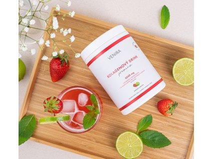VENIRA PREMIUM kolagenový drink pro vlasy, nehty a pleť jahoda limetka