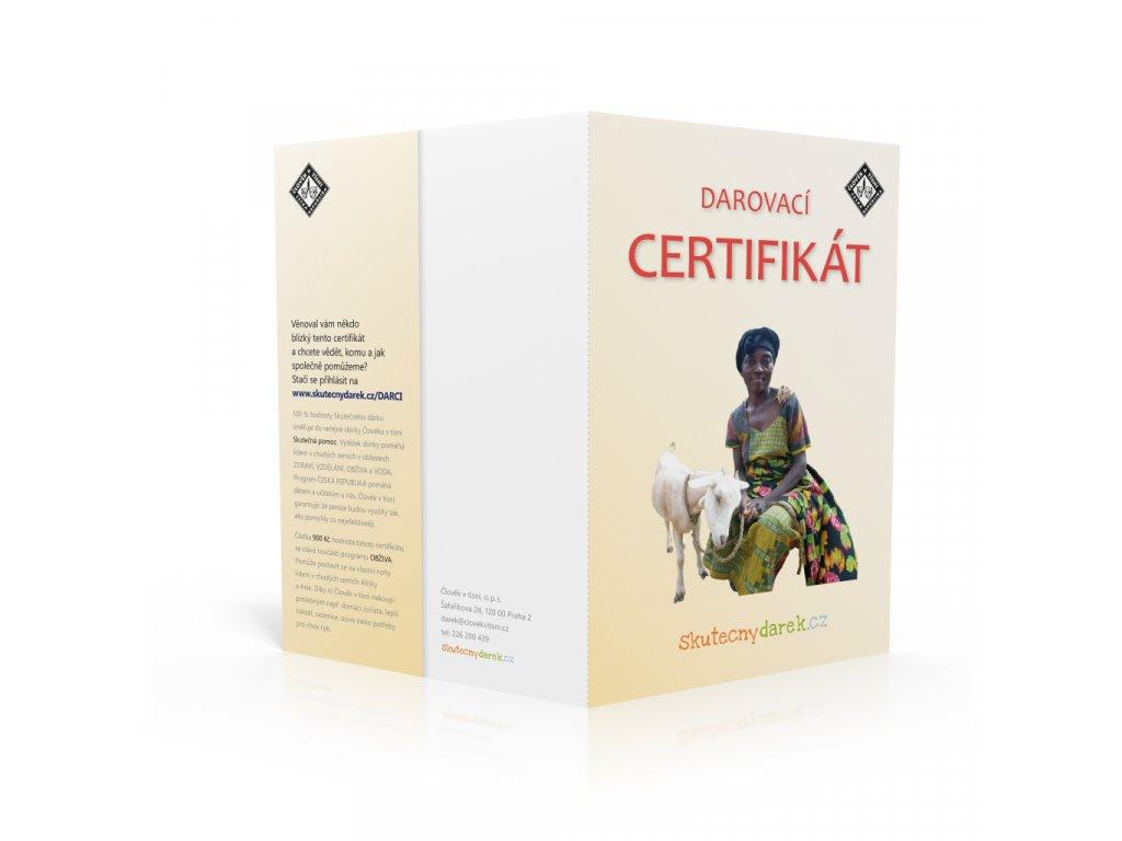 Veselá koza Darovací certifikát
