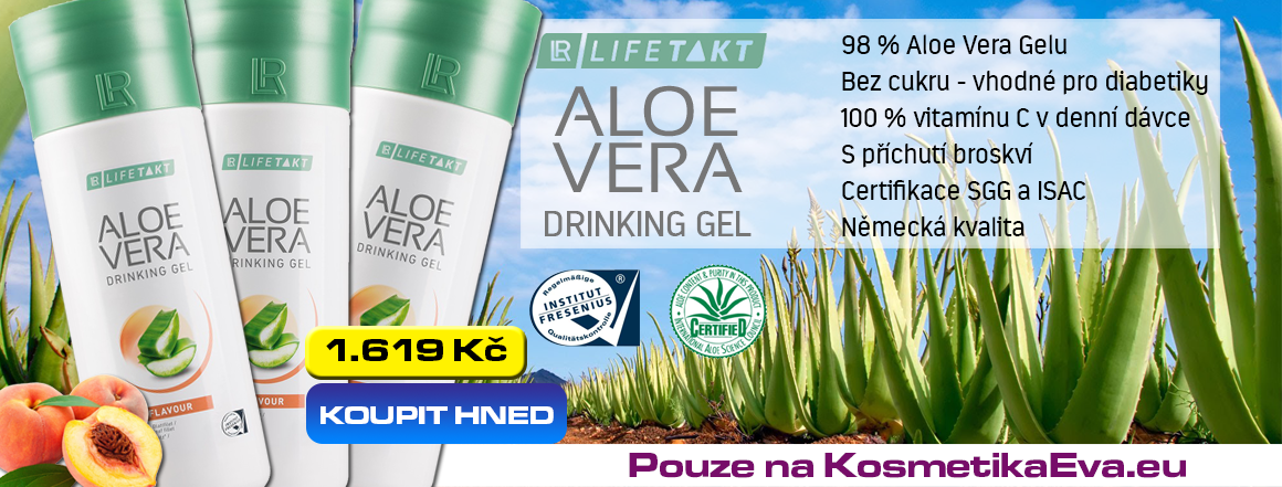 Aloe Vera Gel s broskkví akční nabídka KosmetikaEva.eu