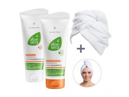 LR Aloe Vera Série Péče o Vlasy  +  LR turban na vlasy