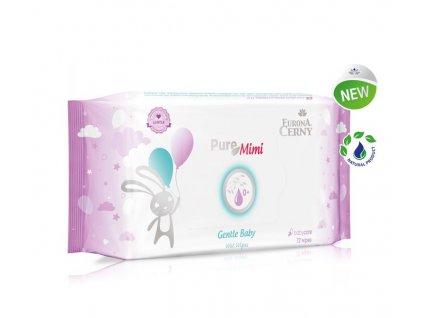Eurona Pure Mimi 0+ Jemné vlhčené ubrousky pro miminka, 72 ks