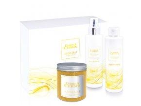 Eurona Luxusní Eurona kolekce - ANNEMAI: Koupelová sůl, Tělový sprej, Sprchový gel + dárková krabice