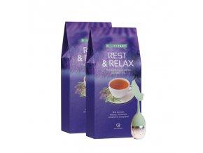 LR LIFETAKT Rest & Relax bylinný čaj s příchutí  2 x 75 g