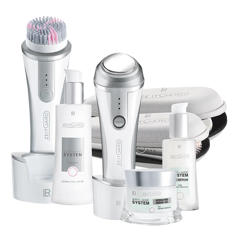 LR Health & Beauty ZEITGARD Systém pro čištění pleti + Anti-age systém Série soft + hydratační krém