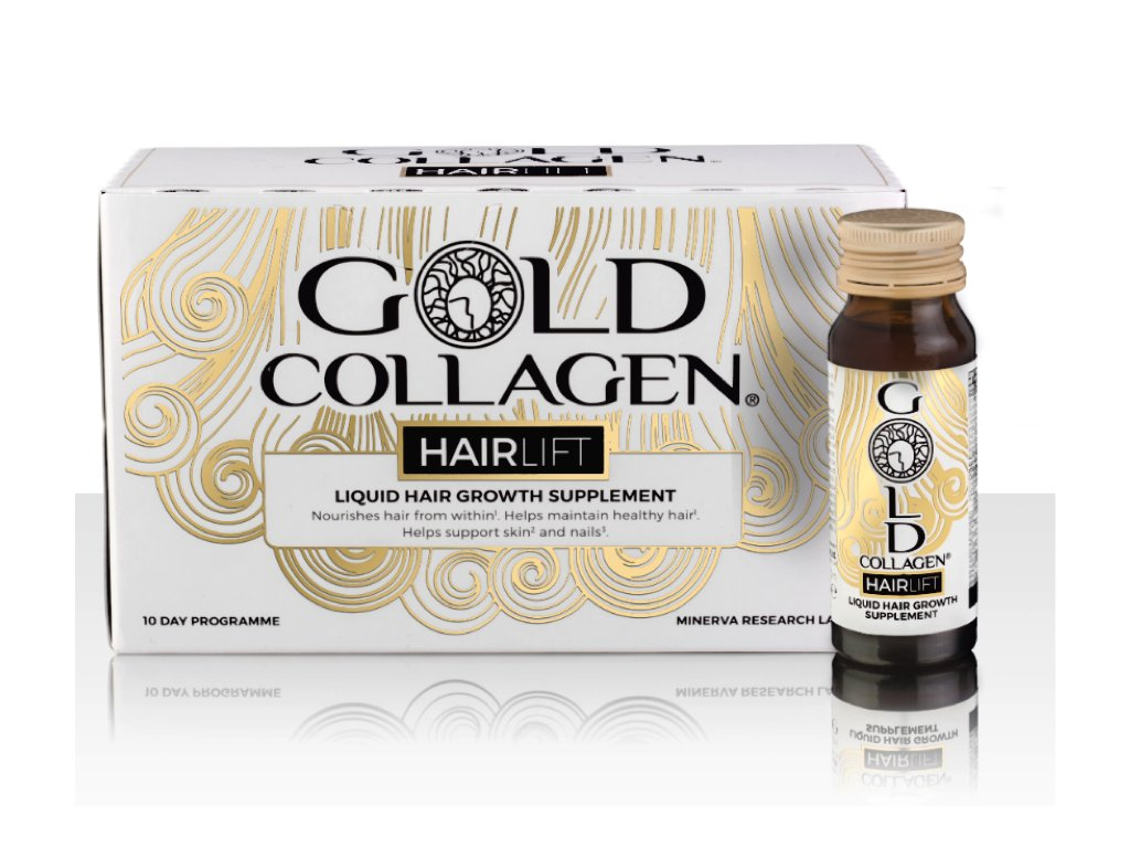 gold collagen hair
