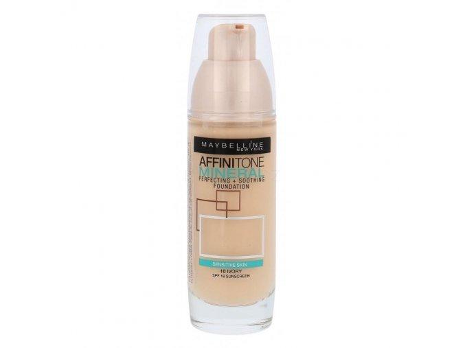 maybelline affinitone mineral spf18 makeup pro zeny 30 ml odstin 10 ivory 162445
