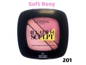 loreal blush sculpt odstín č.201