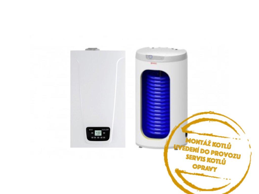 BAXI LUNA DUO TEC COMPACT E 1,28 kotel kondenzační 24kW, s bojlerem 160l, turbo kotelnaklic