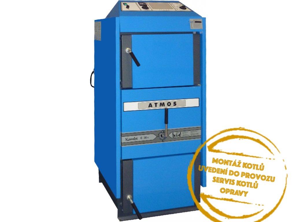 kotel Atmos C 25 ST Kombi na hnědé uhlí, odtah. ventilátor, pravý kotelnaklic