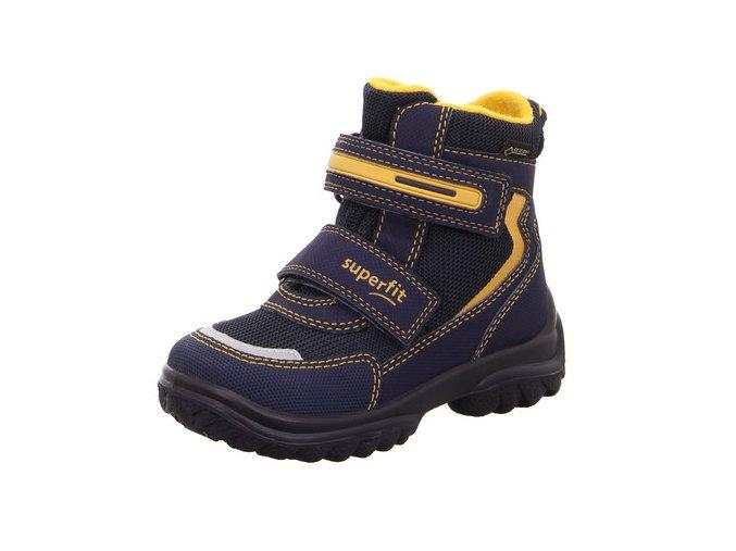 Zimní obuv Superfit Snowcat blau/gelb 50903081