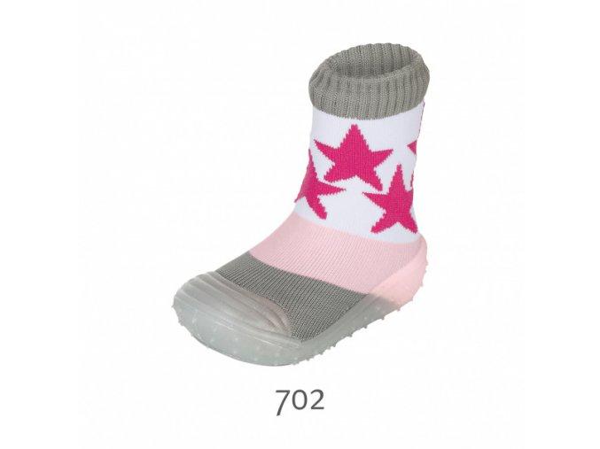 Ponožky Sterntaler Adventure light pink s gumovou podrážkou