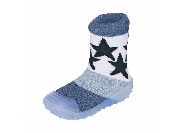 Ponožky Sterntaler Adventure blue s gumovou podrážkou