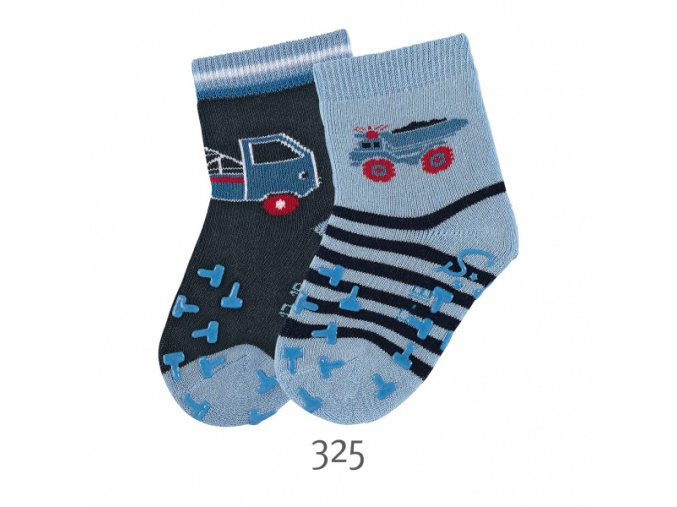 Ponožky Sterntaler protiskluzové 2 páry Auta