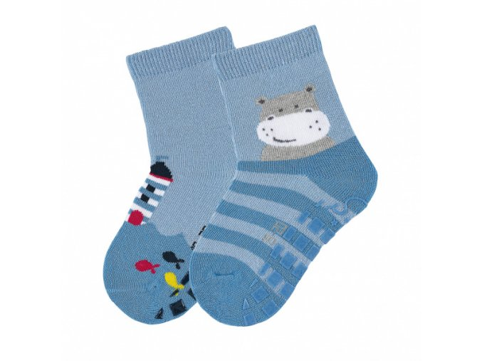 Ponožky Sterntaler protiskluzové 2 páry Hrošík