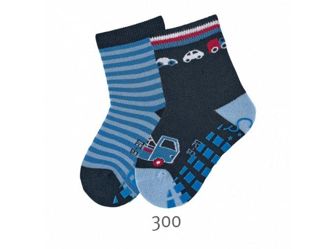 Ponožky Sterntaler protiskluzové 2 páry Autíčka