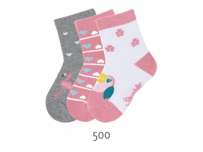 Ponožky Sterntaler 3 páry Ptáčci