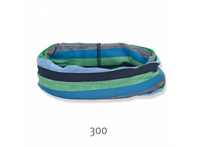 Šátek allrounder modrozelený