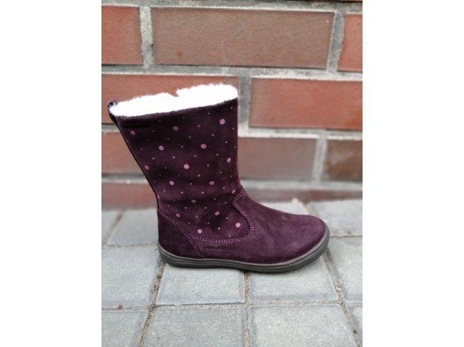 Zimní bota Geox J04CUA Hadriel burgundy