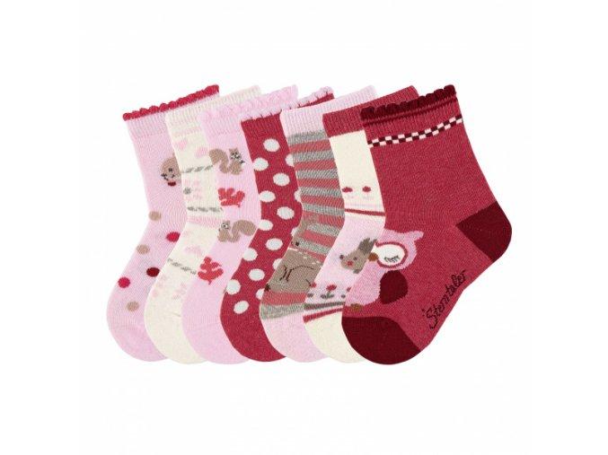 Ponožky Sterntaler 7 párů holka