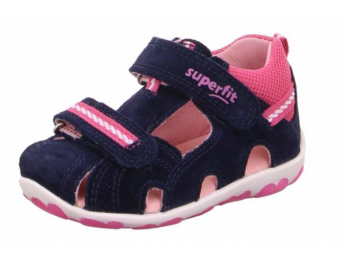 Sandálky Superfit Fanni blau/rosa 0-600036-8000